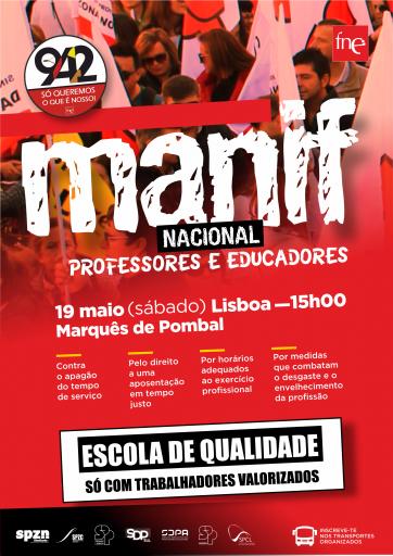Cartaz da Manifestação Nacional - 19 maio 2018