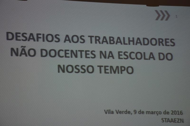 Encontro com Trabalhadores Não Docentes - ES de Vila Verde