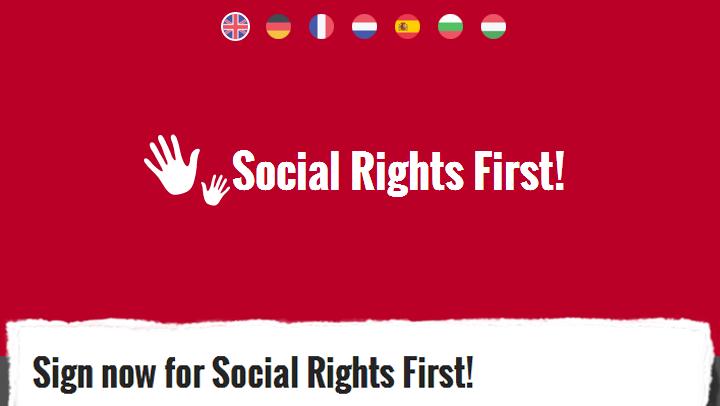 CAMPANHA - Ergue a Voz por uma Europa Social