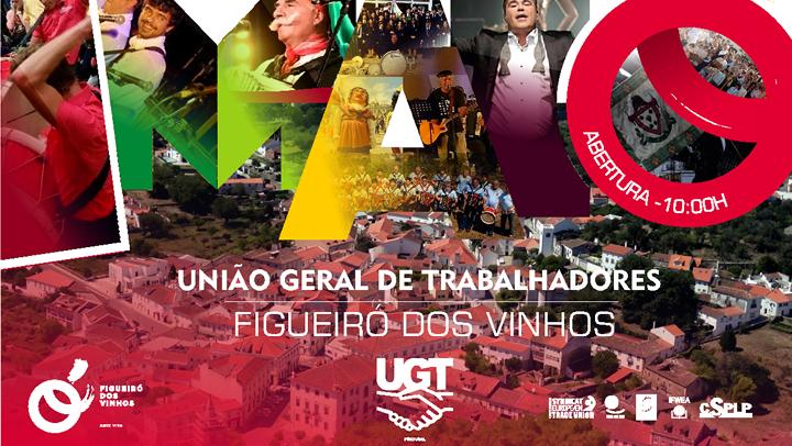 A UGT vai comemorar 1.º de Maio de 2018 em Figueiró dos Vinhos.