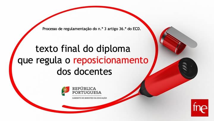 Diploma que regula o reposicionamento dos docentes