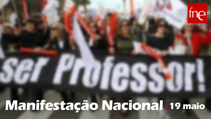 Sindicatos dos professores anunciam manifestação nacional para 19 de maio