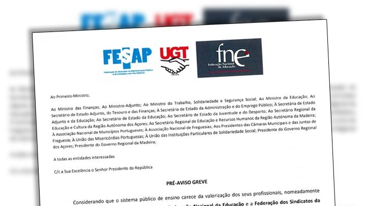 FESAP e FNE entregam Pré-Aviso de Greve para Não Docentes