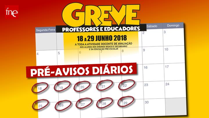 PRÉ-AVISOS DE GREVE