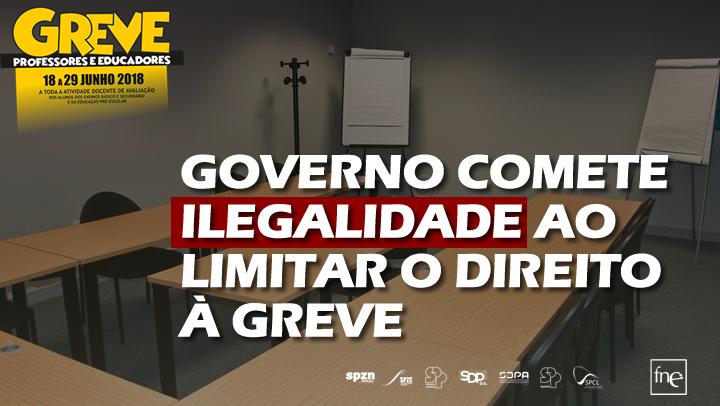 GOVERNO COMETE ILEGALIDADE AO LIMITAR O DIREITO À GREVE