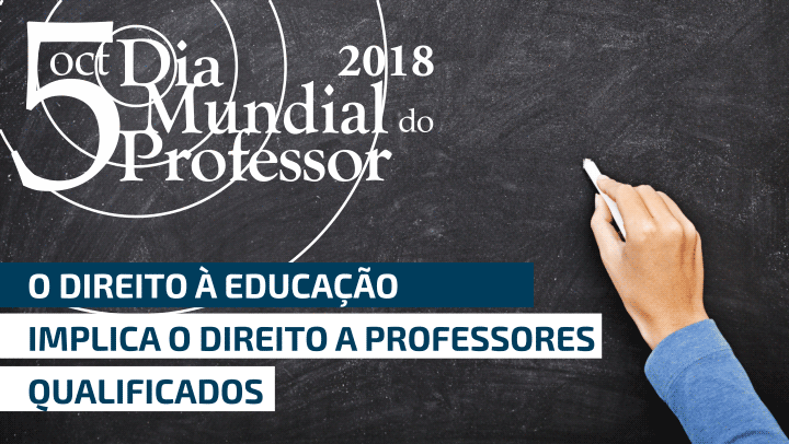 Dia Mundial do Professor e o direito a um professor qualificado