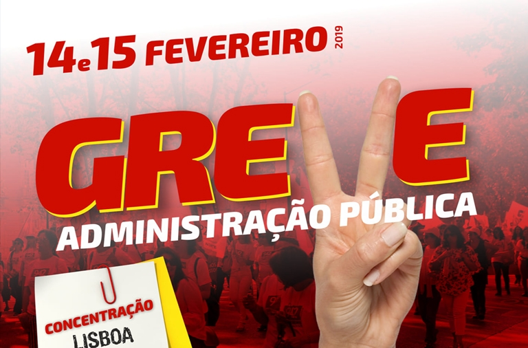 Administração Pública em greve nos dias 14 e 15 de fevereiro