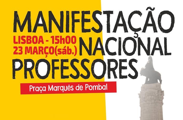 Professores e educadores de todo o país saem à rua, dia 23 de março, a exigir o cumprimento da lei