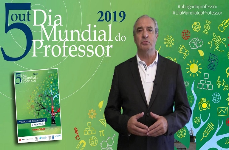 Dia Mundial do Professor nas ruas de Lisboa