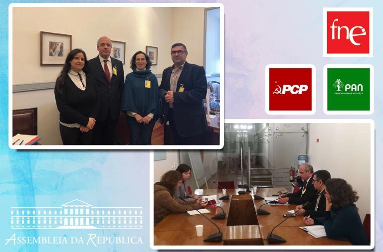 FNE recebida pelo PCP e PAN na Assembleia da República
