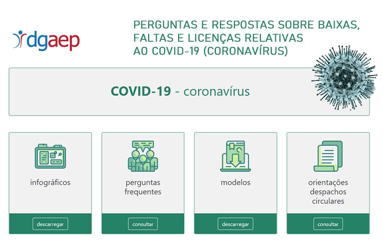 Perguntas e respostas sobre baixas, faltas e licenças relativas ao COVID-19 (Coronavírus)