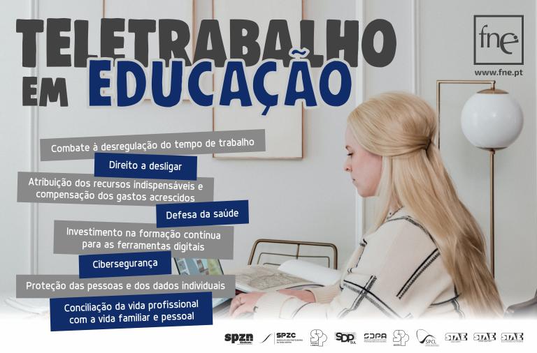 FNE vai promover ações de clarificação da regulamentação do teletrabalho em Educação