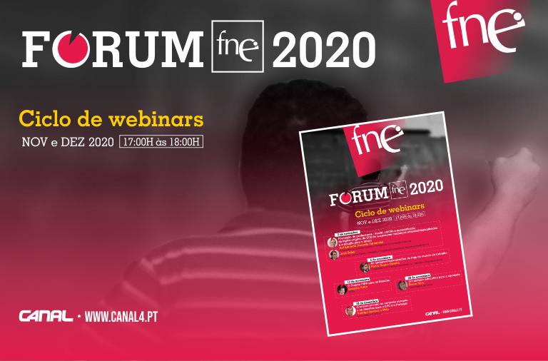 Fórum FNE 2020 com um ciclo de cinco webinars