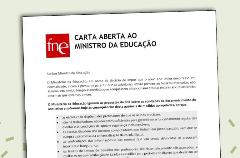 Carta aberta ao Ministro da Educação