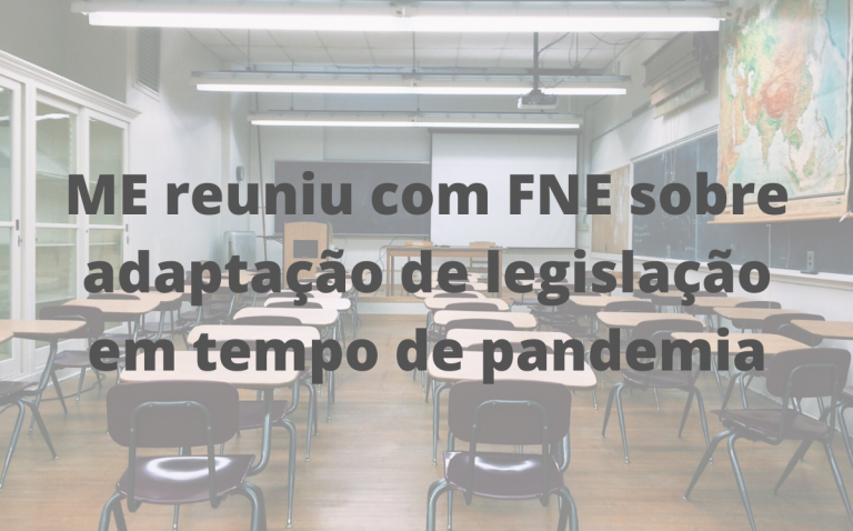 ME reuniu com FNE sobre adaptação de legislação em tempo de pandemia