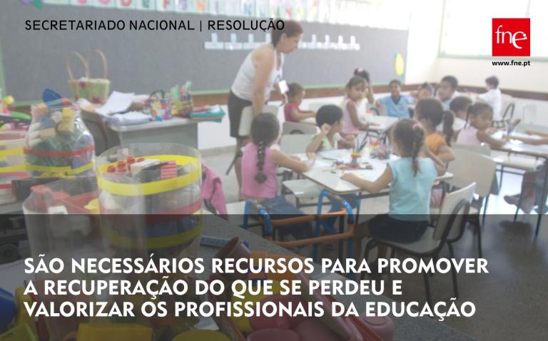 FNE exige medidas concretas de valorização dos profissionais da Educação e das suas condições de trabalho