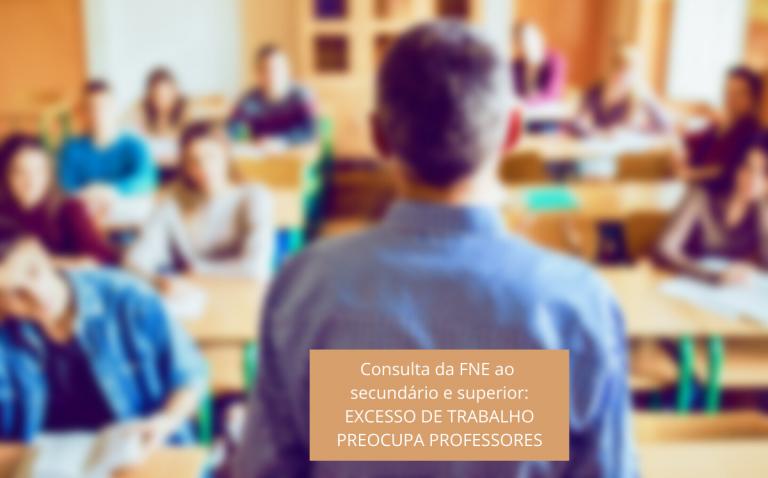 Consulta da FNE ao secundário e superior: Excesso de trabalho preocupa professores