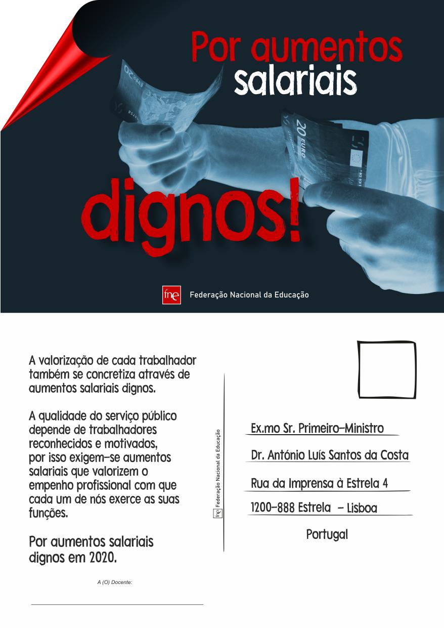 Postal FNE - Por aumentos salariais dignos!